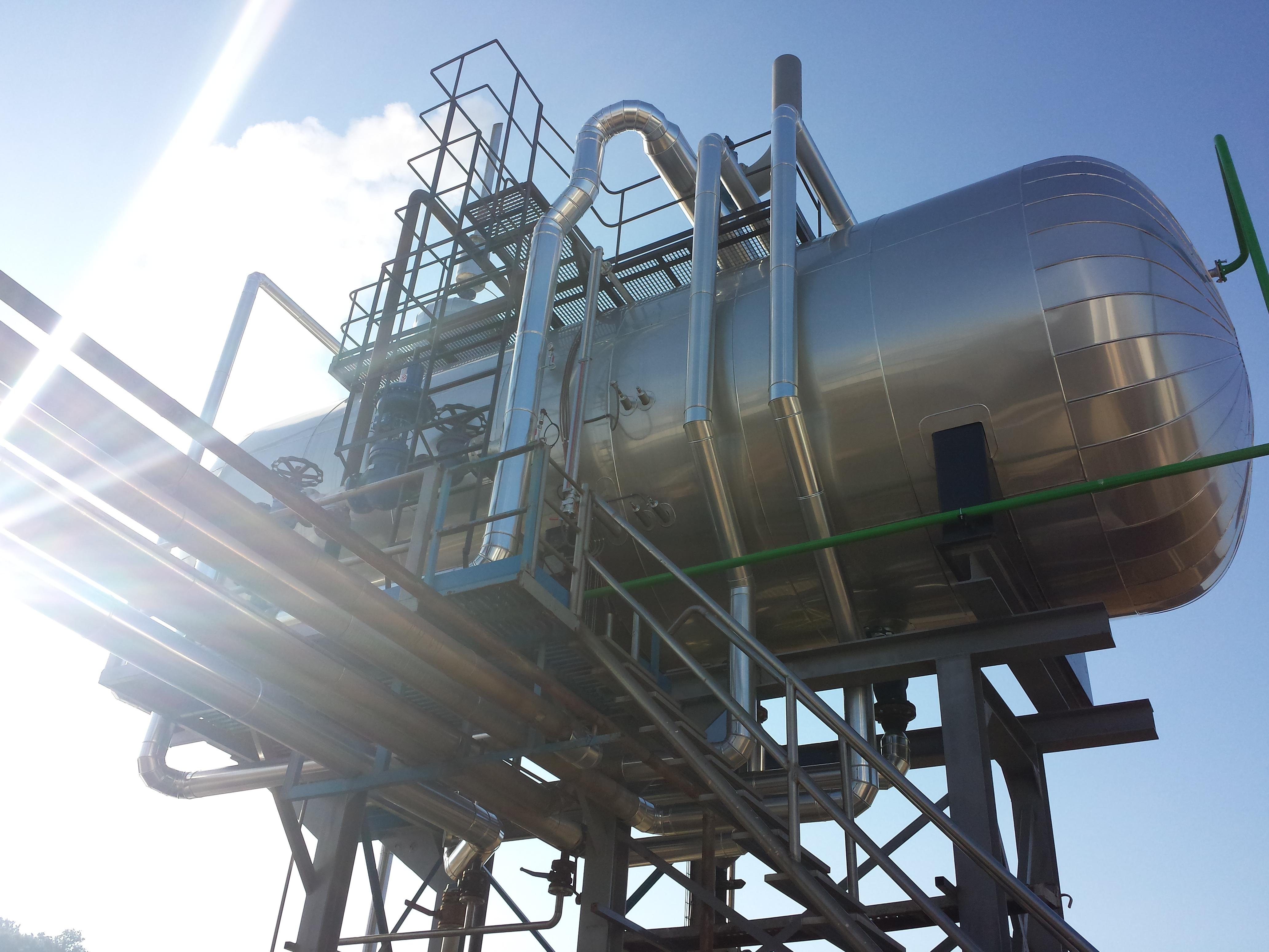 Calderas de vapor desgasificador DGV 2 Calderería López Hermanos, S.A. Valencia