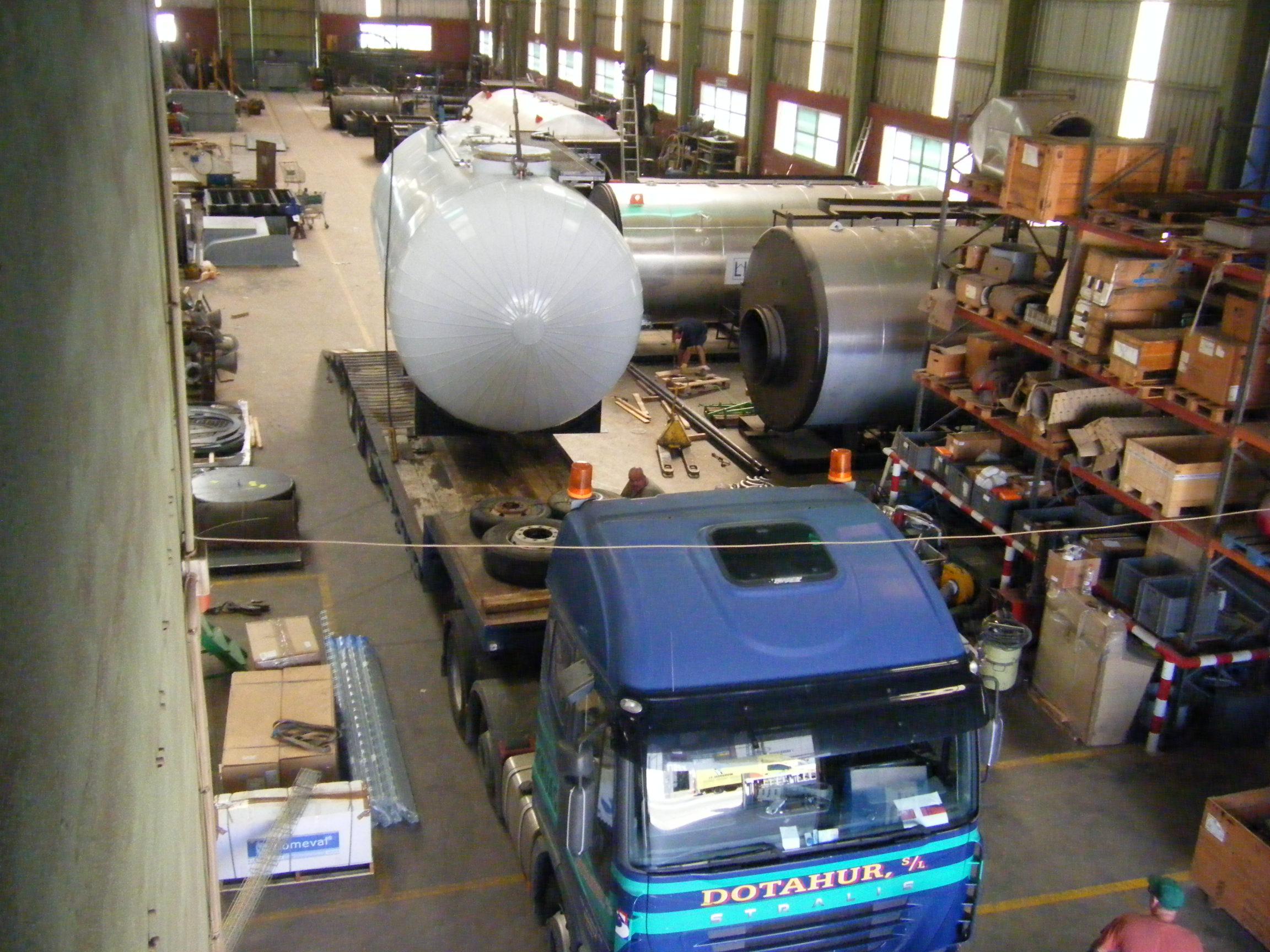 Calderas de vapor desgasificador DGV 7 Calderería López Hermanos, S.A. Valencia