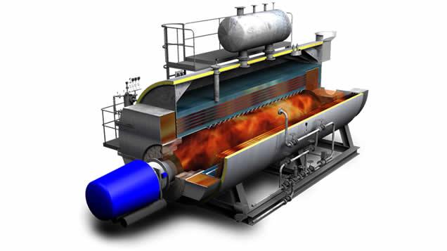 Caldera de vapor pirotubular GVLH2