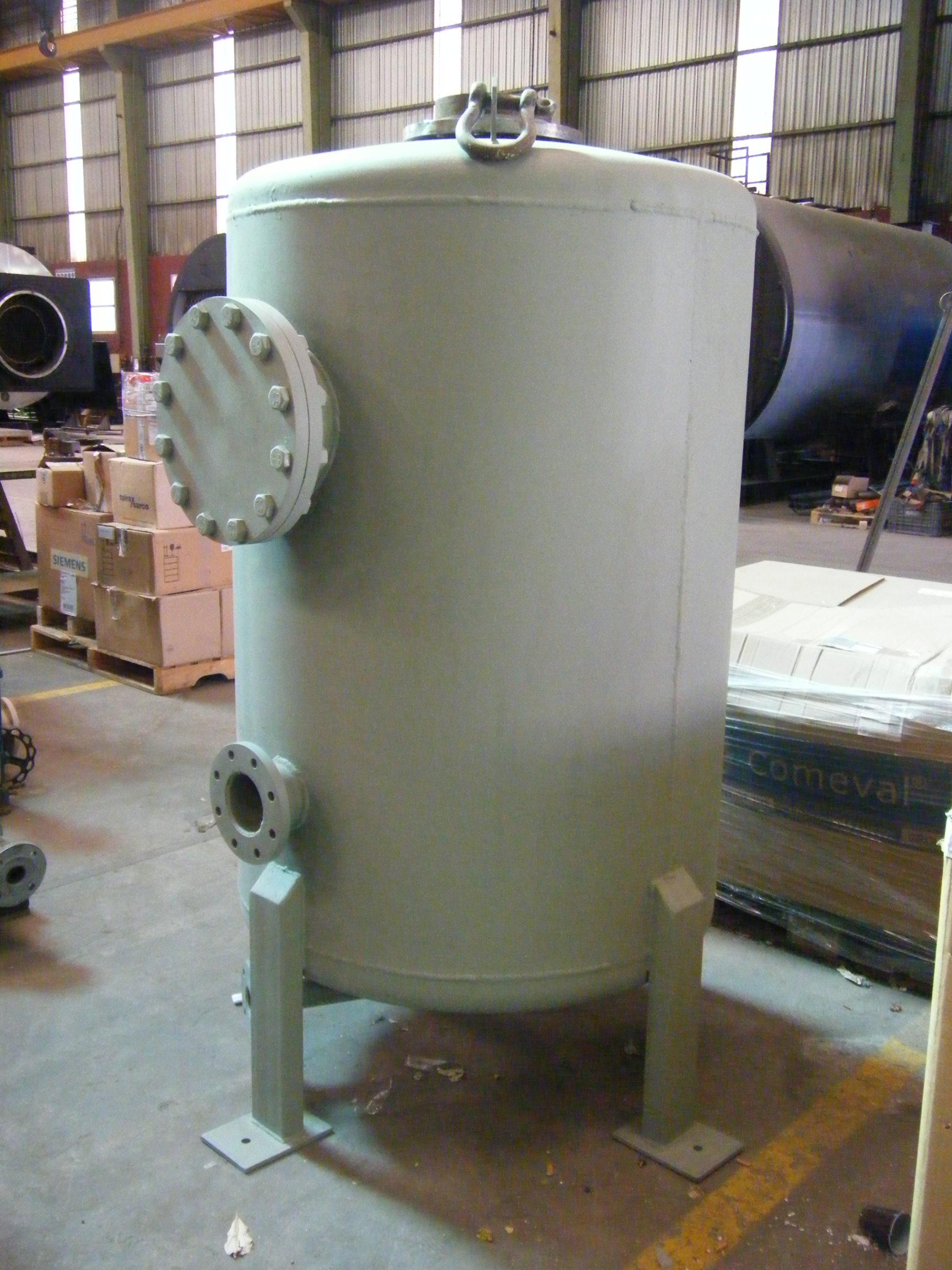 Deposito de purgas calderas de vapor 1 Calderería López Hermanos, S.A.